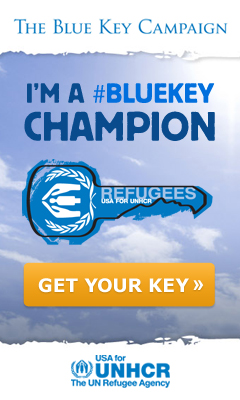 BlueKey Champ for refugee support