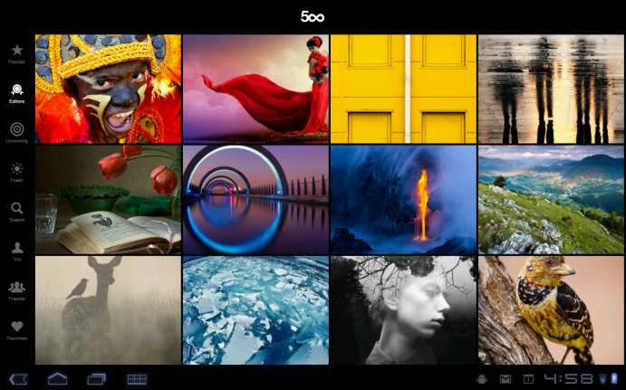 500px Now On Android